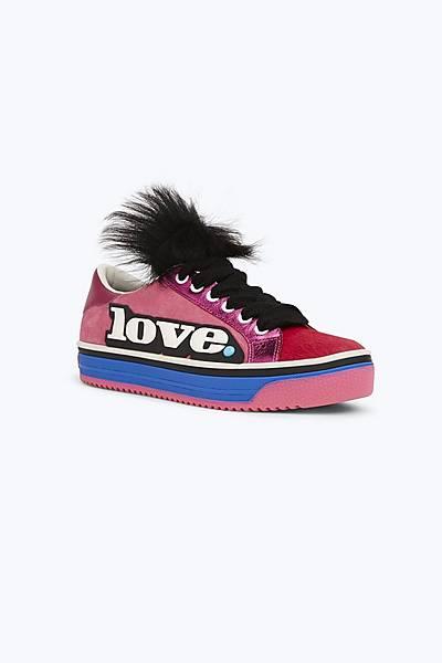 aaa6a329cc41b1 Love Empire Faux Fur Sneaker