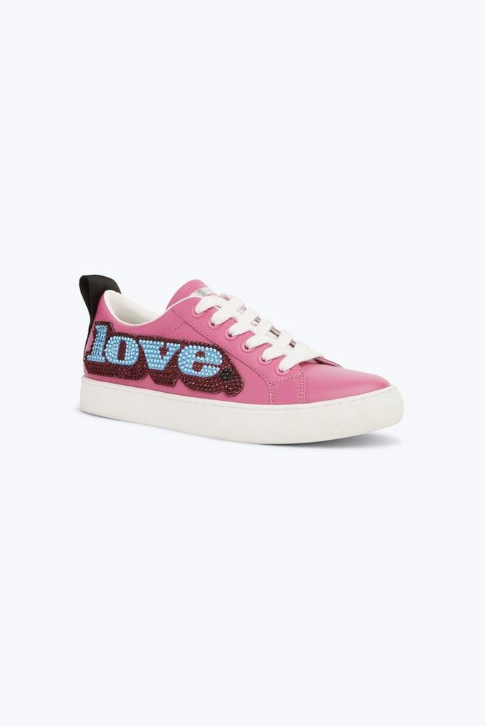 Love Embellished Empire Low Top Sneaker - View 0