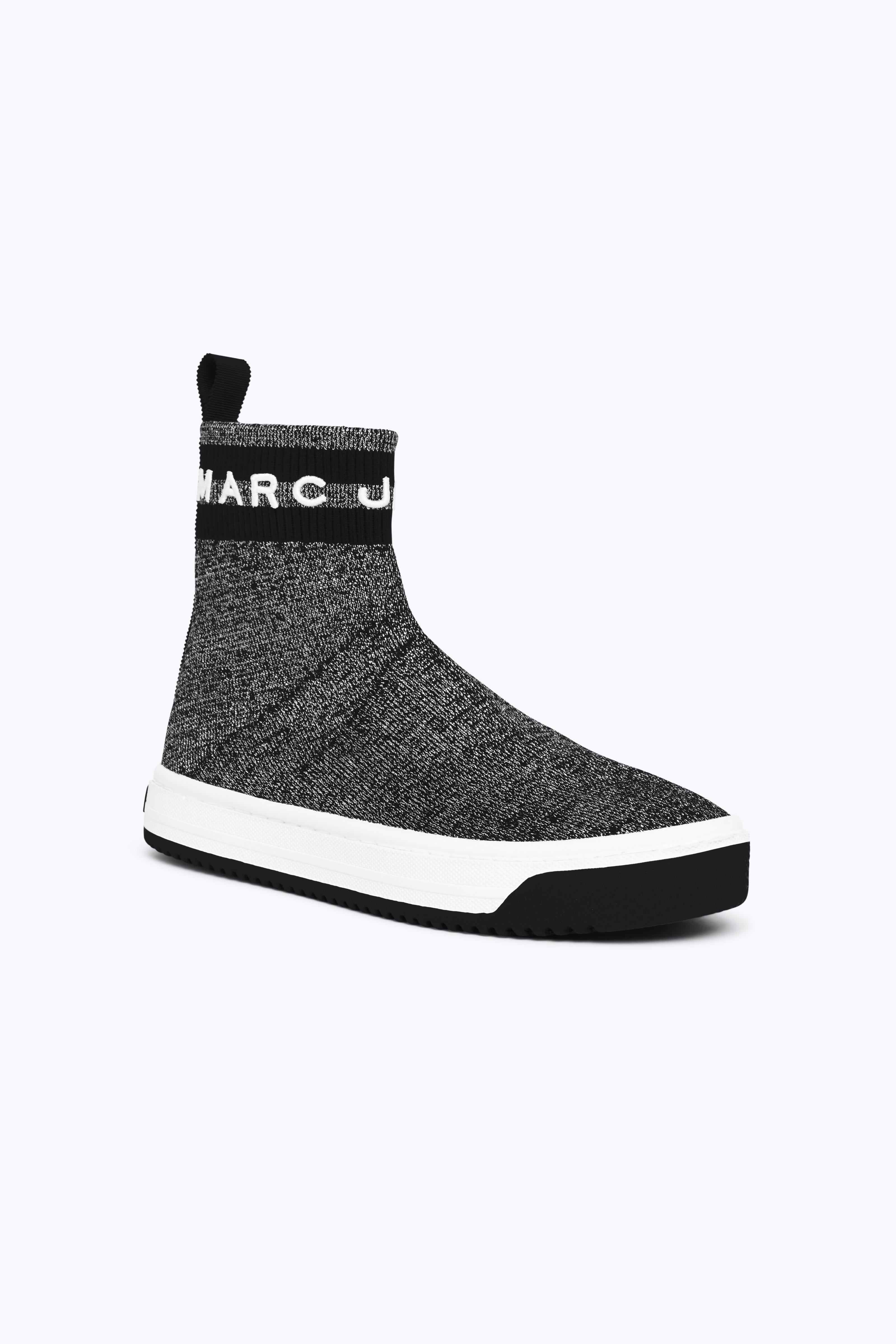 MARC JACOBS Metallic Logo Dart Sock Sneaker