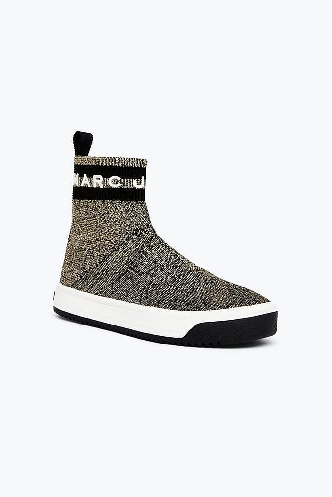 Metallic Logo Dart Sock Sneaker