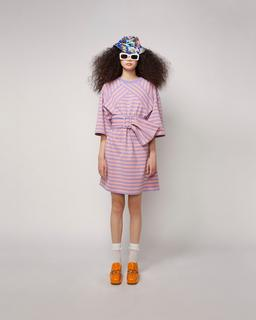 The Striped T-Shirt Dress--Alternate view