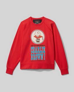마크 제이콥스 X 피너츠 캡슐 컬렉션 '찰리 브라운' 맨투맨 Marc Jacobs x Peanuts The Sweatshirt,Washed Red