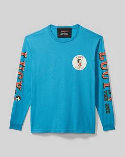 마크 제이콥스 Marc Jacobs Peanuts x 마크 제이콥스 Marc Jacobs The Long Sleeve T-Shirt,Washed Blue