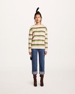 Striped Crewneck Sweater--Alternate view