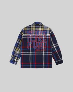 Plaid Shirt Jacket--Alternate view