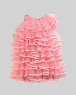 마크 바이 마크 제이콥스 Marc Jacobs Runway Organza Mini Me Dress,PINK