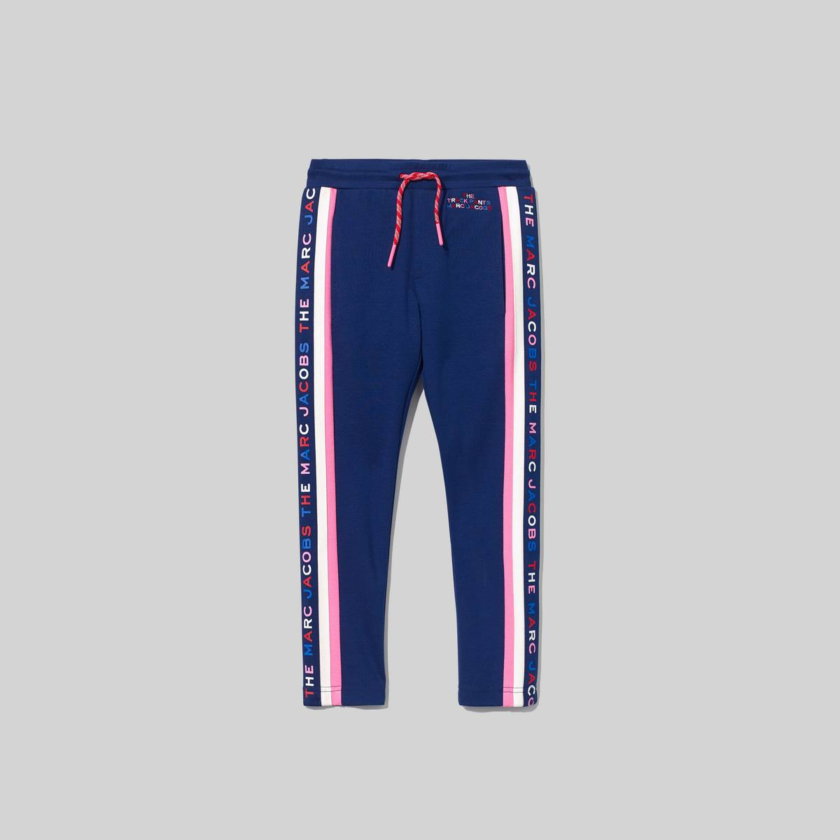 Track pants featuring our signature logo with contrast stripes at sides. Wear with the matching Logo Track Jacket. | MARC JACOBS Women\\'s The Logo Track Pants in Navy, Size 2Y