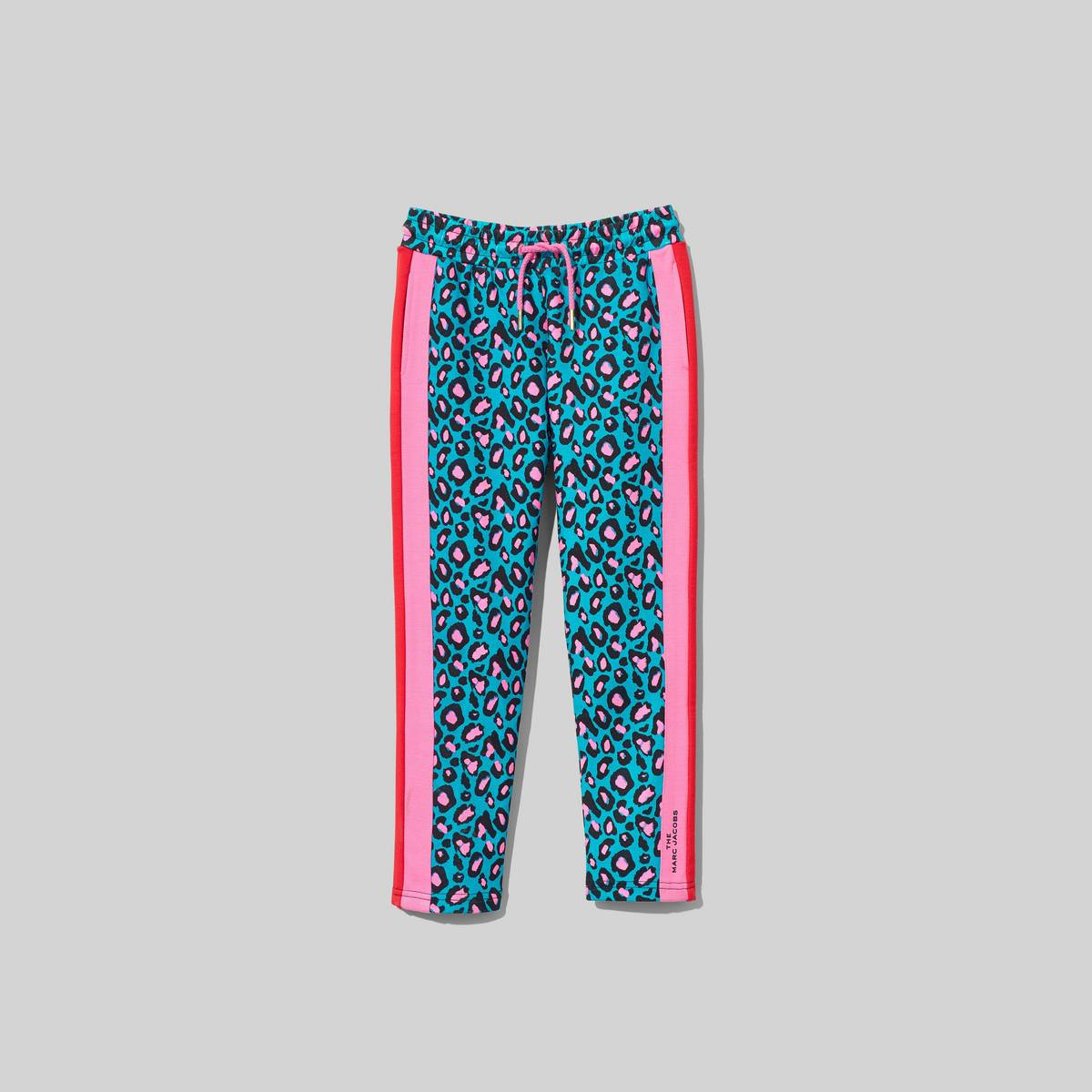 Cheetah print track pants with contrast stripes at sides. Wear with the matching Track Jacket. | MARC JACOBS Women\\'s The Track Pants in Multi, Size 4Y