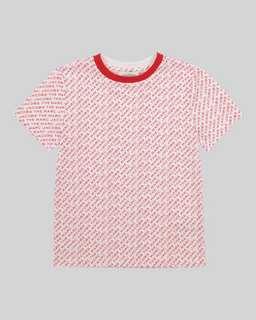 마크 제이콥스 키즈 로고 티셔츠 Marc Jacobs The All Over Logo T-Shirt,WHITE MULTI