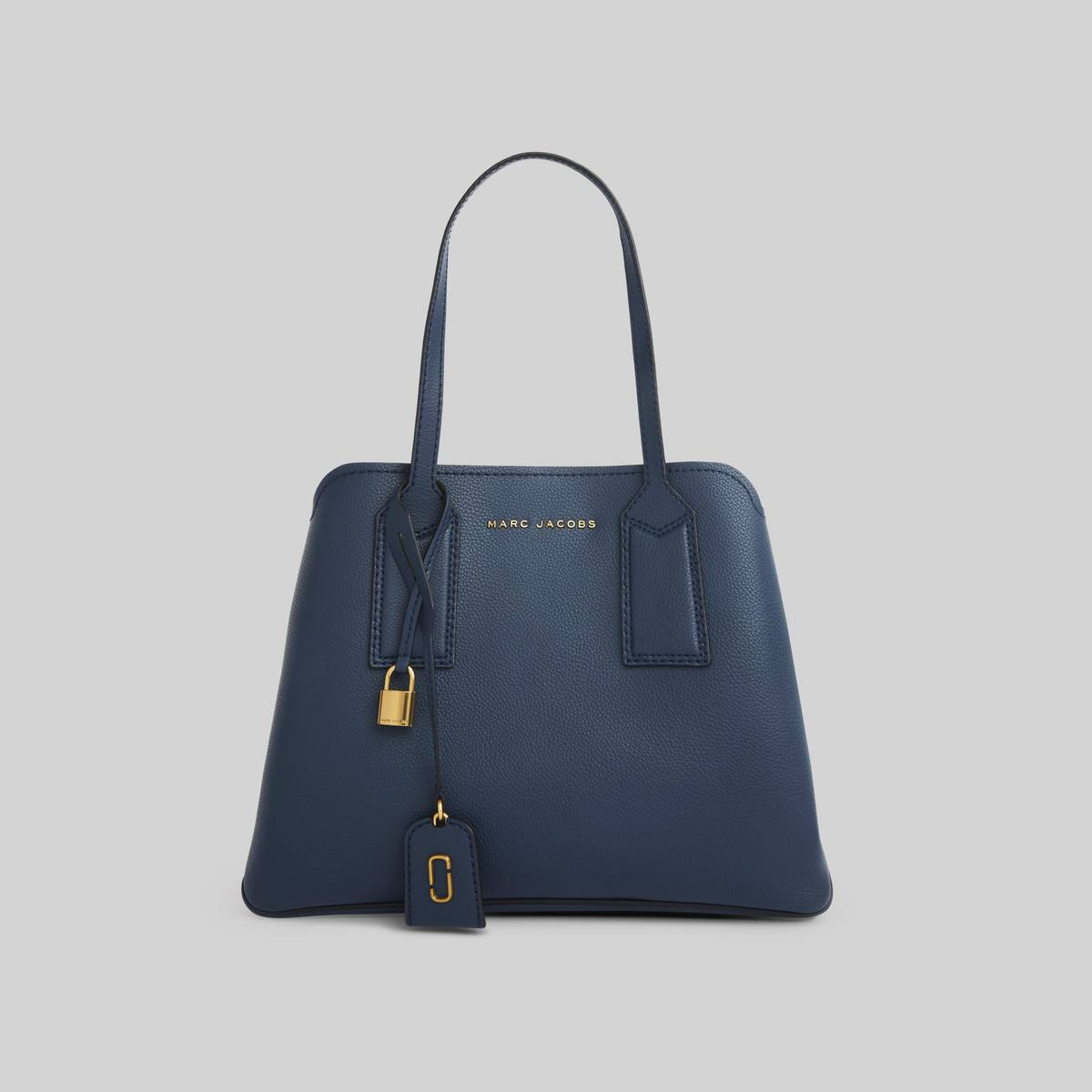 Spacious leather tote with shoulder straps and 3 interior sections. | MARC JACOBS Women\\'s The Editor Shoulder Bag in Blue Sea