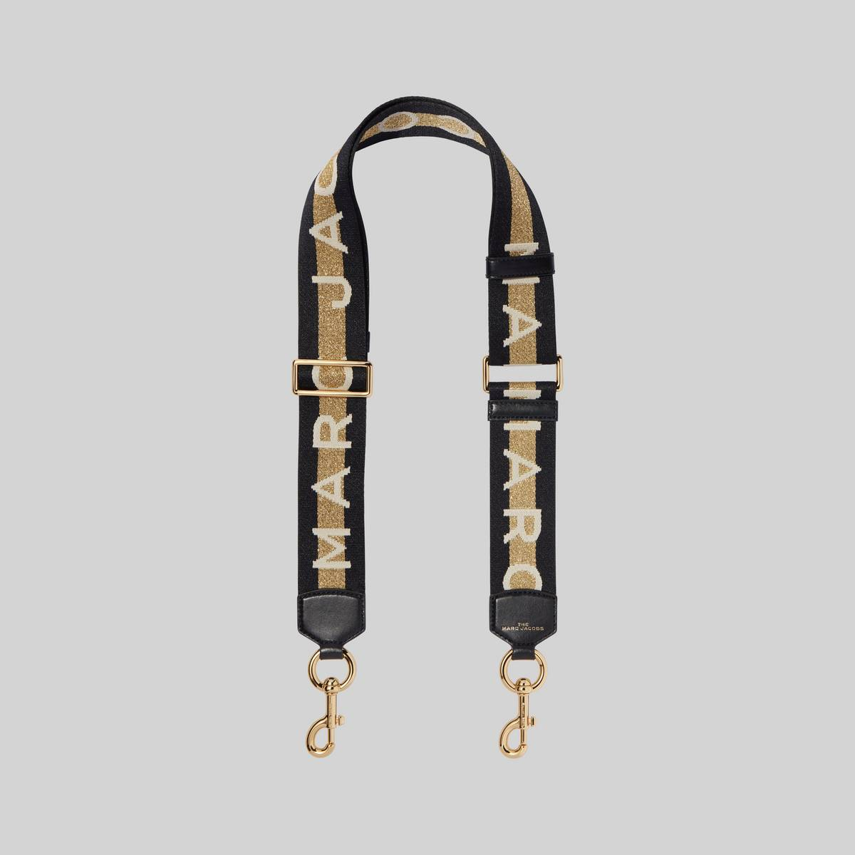 Adjustable webbing strap with our logo. | MARC JACOBS Women\\'s The Logo Webbing Strap in Gold Multi