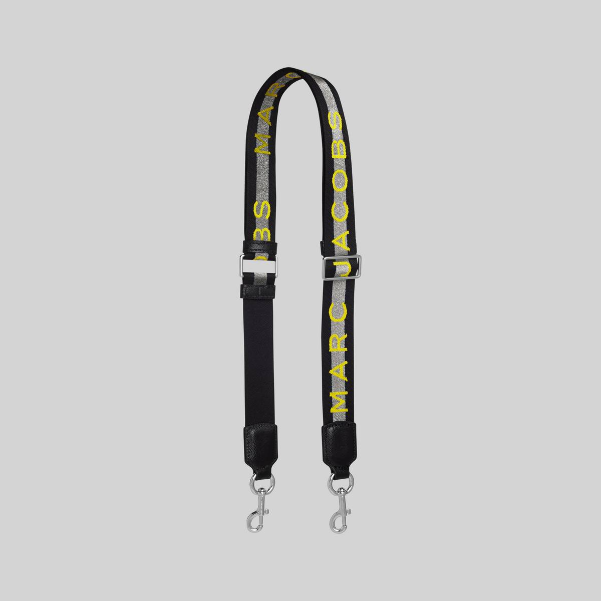 When a boring strap won\\\'t do, swap it in for this one. Sturdy and easily interchangeable, this thinner iteration adds the perfect hint of texture.   MARC JACOBS Women\\\'s The Logo Thin Webbing Strap in Silver Multi/Silver