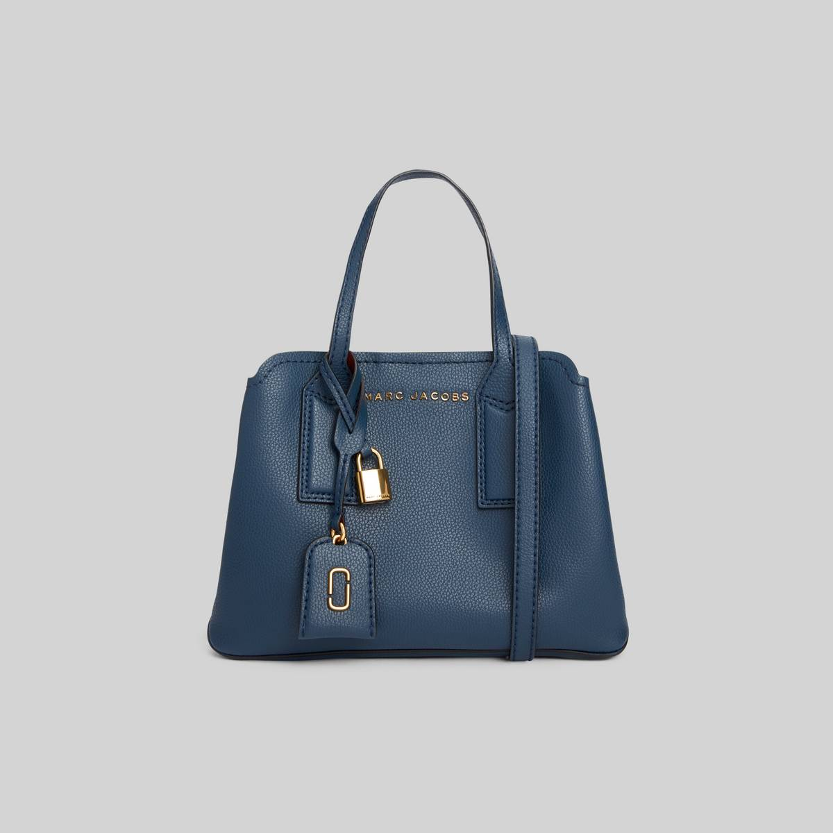 Leather tote with shoulder straps and 3 interior sections. | MARC JACOBS Women\\'s The Editor Crossbody Bag in Blue Sea