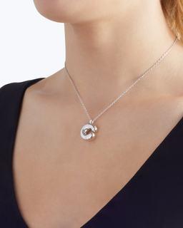 Bubbly C Pendant Necklace--Alternate view
