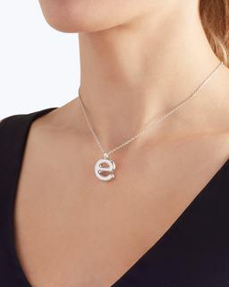 Bubbly E Pendant Necklace--Alternate view