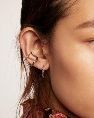 Double Hoop Ear Cuff Set--Alternate view
