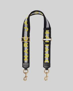 마크 제이콥스 로고 백스트랩 Marc Jacobs The Logo Webbing Strap,SILVER MULTI