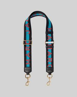 마크 제이콥스 로고 백스트랩 Marc Jacobs The Logo Webbing Strap,BLUE MULTI