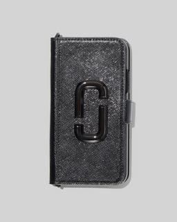 마크 제이콥스 Marc Jacobs The Chain Strap DTM iPhone 11 Bookcase,BLACK