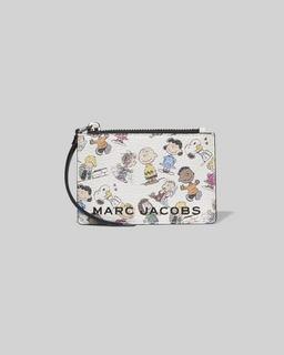 마크 제이콥스 X 피너츠 지갑 Peanuts x Marc Jacobs The Box Top Zip Multi Wallet,WHITE MULTI