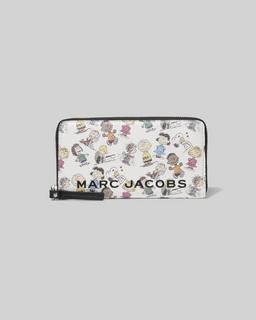 마크 제이콥스 Marc Jacobs Peanuts x 마크 제이콥스 Marc Jacobs The Box Standard Continental Wallet,WHITE MULTI