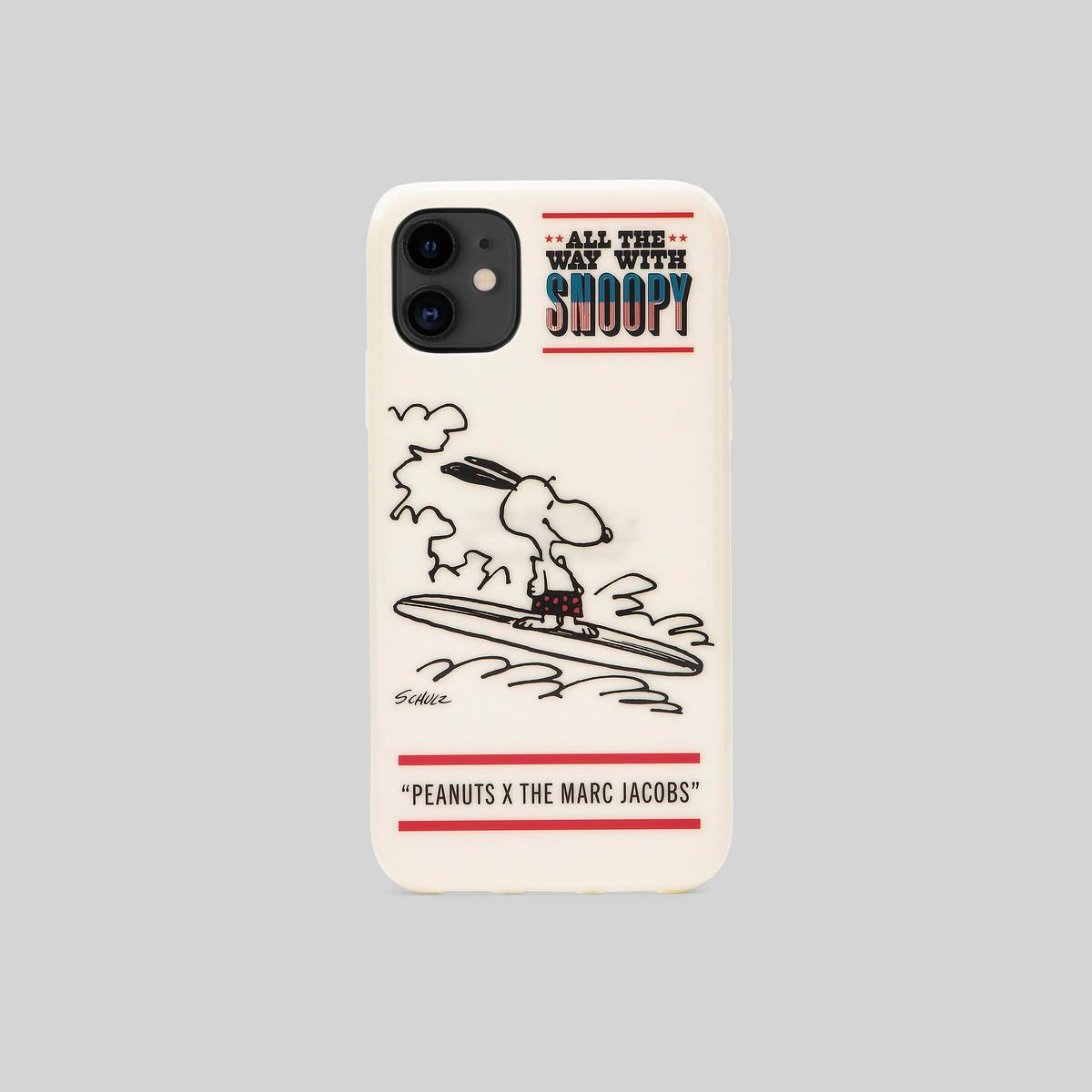 Polyurethane case featuring our favorite Peanuts characters. | MARC JACOBS Women\\'s Peanuts x The iPhone 11 Case in White Multi