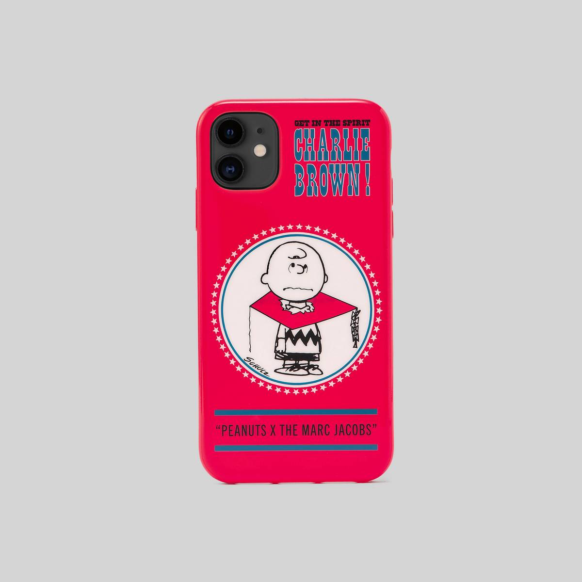 Polyurethane case featuring our favorite Peanuts characters. | MARC JACOBS Women\\'s Peanuts x The iPhone 11 Case in Red Multi
