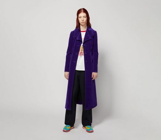 The Velveteen Fit And Flare Coat by Marc Jacobs