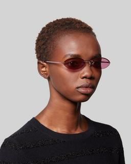 Rimless Petite Sunglasses--Alternate view