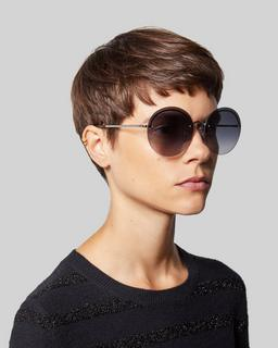 Rimless Boho Round Sunglasses--Alternate view