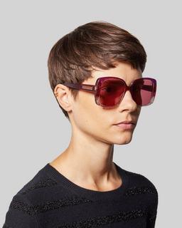 Signature Plaque Square Sunglasses--Alternate view