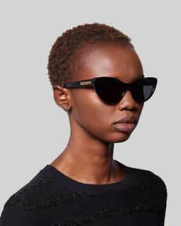 Signature Plaque Cateye Sunglasses--Alternate view
