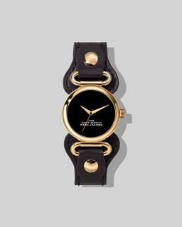 마크 제이콥스 Marc Jacobs The Cuff Watch,BLACK/GOLD