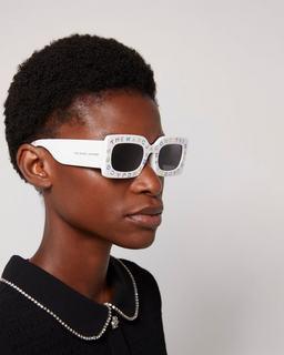 The Logo Rectangle Sunglasses--Alternate view