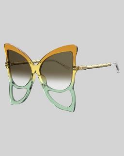 마크 제이콥스 Marc Jacobs The Butterfly Sunglasses,COPPER/GREEN