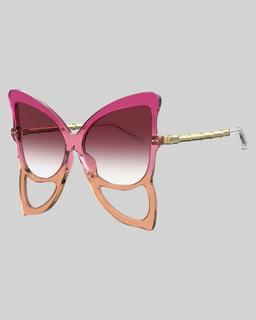 마크 제이콥스 Marc Jacobs The Butterfly Sunglasses,CHERRY/ORANGE