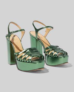 마크 제이콥스 Marc Jacobs The Glam Sandal,DARK GREEN
