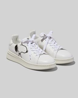 마크 제이콥스 Marc Jacobs Peanuts x 마크 제이콥스 Marc Jacobs The Mens Tennis Shoe,WHITE