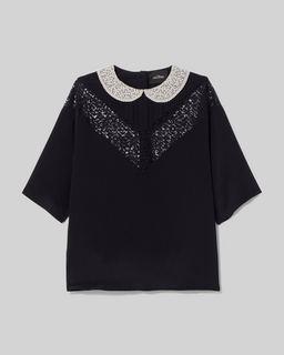 마크 제이콥스 Marc Jacobs The Lace Blouse,Black