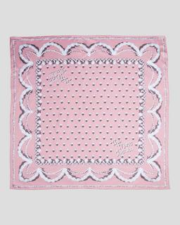 마크 제이콥스 Marc Jacobs The Icing Silk Square Scarf,Dusty Pink