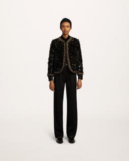 Sequin Tweed Jacket--Alternate view
