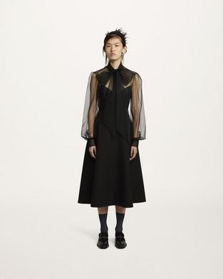 Compact Wool A-Line Skirt--Alternate view