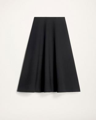 Compact Wool A-Line Skirt