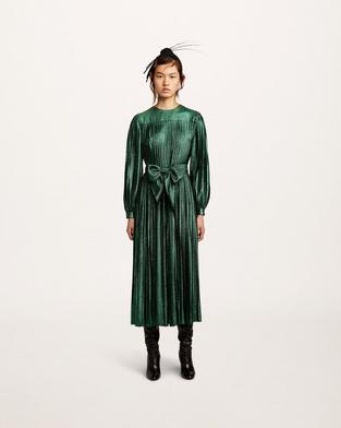 Pleated Lamé Dress--Alternate view