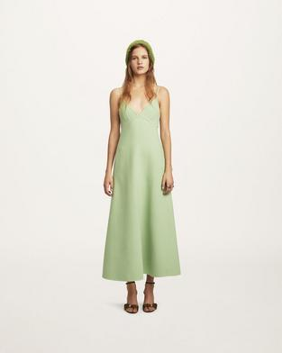 Double-Face Wool Slip Dress--Alternate view