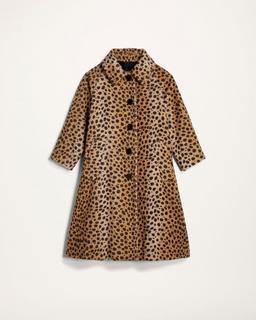Printed Alpaca Coat