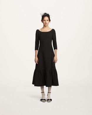 Wool Crepe Dress--Alternate view