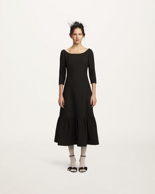 Wool Crepe Dress--Alternate view