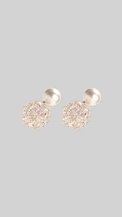 c5ff9bc7f Crystal Ball Pearl Earrings ...