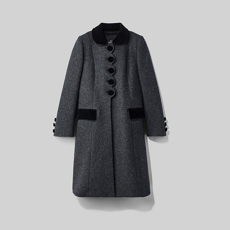 6d88bef81a MARC JACOBS The Sunday Best Coat in Dark Grey Melange